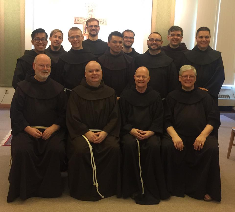 The newly professed with Novice Master and Formation Team
